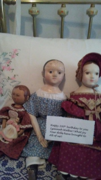 Happy 200th birthday Izannah Walker! What joy your dolls have brought to all of us! Billie A.