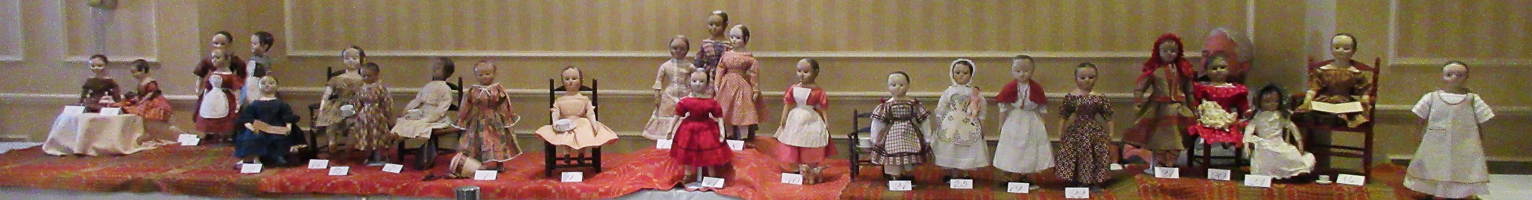 Izannah Walker Iconic American Doll Maker 1817 - 2017. Exhibit at the Jenny Lind Doll Show October 29, 2017. Author's photo.