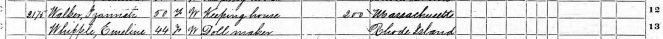 Izannah Walker 1870 Census detail