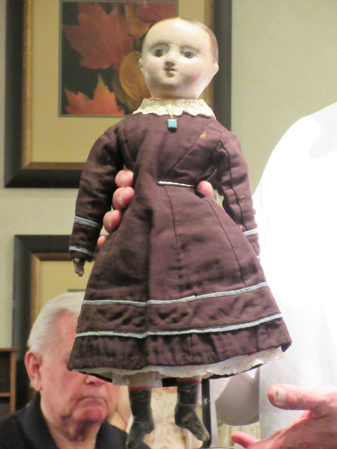Maude Rouse's c. 1865 Izannah Walker dolll