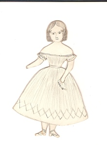 Hand Drawn Antique Paper Doll